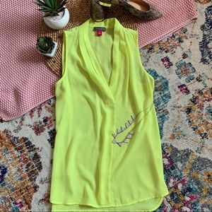 Vince Camuto Bright Sleeveless Flowy Blouse XS